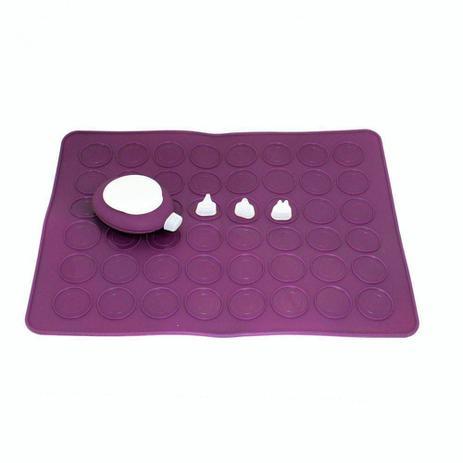 Imagem de Kit para Macarons com Tapete e Bisnaga com 3 Bicos - Lilás