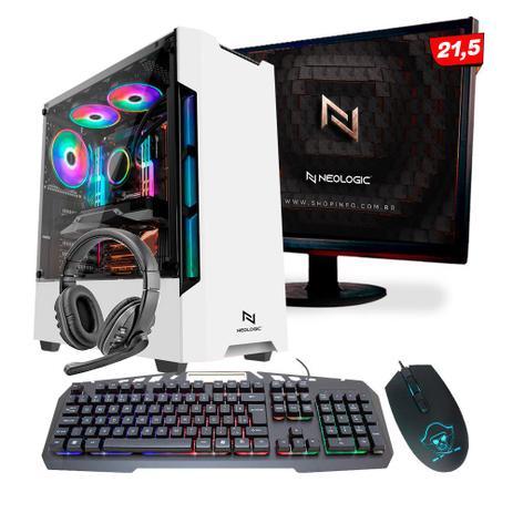 Imagem de KIT - Pc Gamer Neologic NLI82110 Ryzen 3 2200G 8GB (Radeon Vega 8 Integrado) SSD 240GB + Monitor 21,5