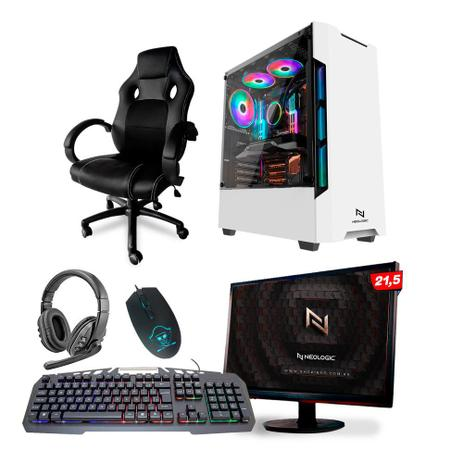 Imagem de KIT - Pc Gamer Neologic NLI82112 Ryzen 3 2200G 8GB (Radeon Vega 8 Integrado) SSD 240GB + Cadeira Gamer