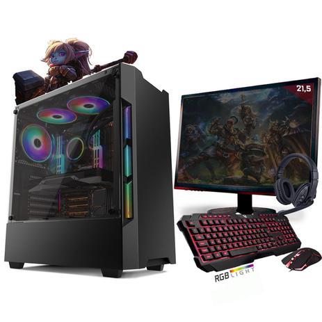Imagem de Kit PC Gamer Neologic Start NLI81414 Ryzen 3 2200G 8GB ( Radeon Vega 8 Integrado) SSD 240GB + Monitor 21,5