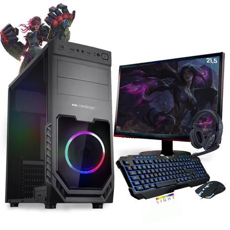Imagem de Kit PC Gamer Neologic Start NLI81416 Ryzen 3 2200G 8GB ( Radeon Vega 8 Integrado) 1TB + Monitor 21,5