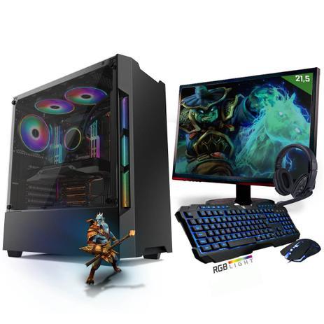 Imagem de Kit PC Gamer Neologic Start NLI81421 Ryzen 5 2400G 8GB (Radeon RX Vega 11 Integrado) SSD 480GB + Monitor 21,5