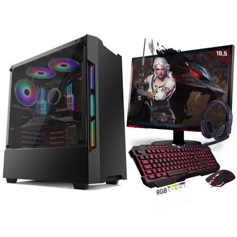 Imagem de Kit PC Gamer Neologic Start NLI81432 Ryzen 5 2400G 8GB (Radeon RX Vega 11 Integrado) SSD 240GB + Monitor 19,5