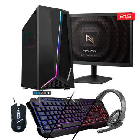 Imagem de Kit - PC Gamer Neologic X NLI81868 Intel G-5900 8GB (Geforce GT 1030 2GB) 1TB + MONITOR 21,5