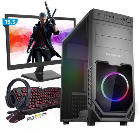 Imagem de Kit PC Gamer Smart SMT81478 Intel i5 8GB (RX 570 4GB) SSD 480GB + Monitor 19,5
