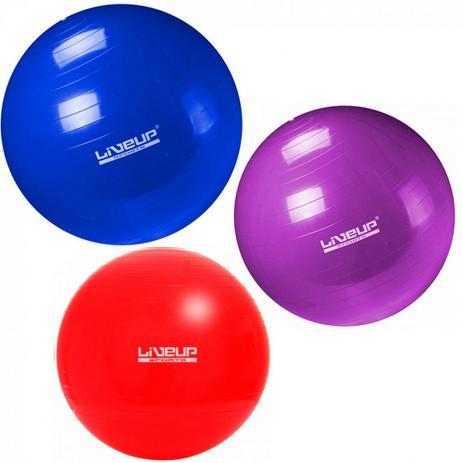 Kit Pilates com 3 Bolas Suicas Tamanhos 45 Cm + 55 Cm + 65 Cm Liveup ... 8400e72961ba0