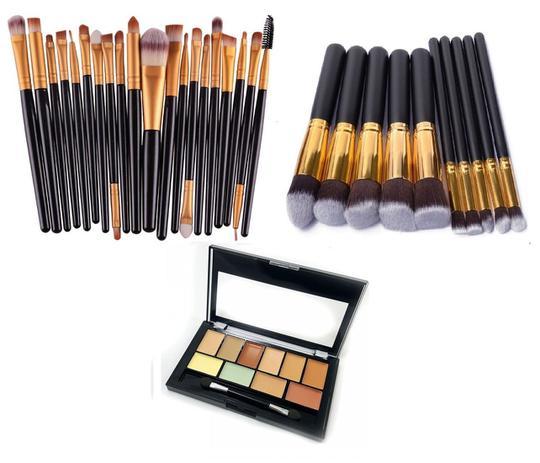 Imagem de KIT Pincéis Maquiagem Profissional 30 Peças Corretivo