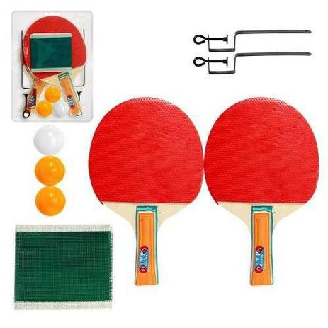 Kit Ping Pong Tênis Mesa Raquetes Rede Bolinhas - Import - Kit Ping ... fdfbfe543bcd7