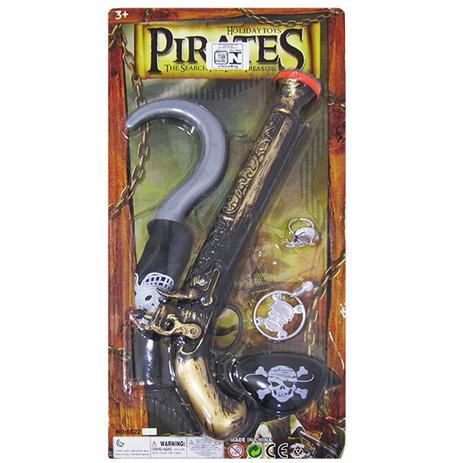 Imagem de Kit pirata com pistola + gancho pirates e acessorios 5 pecas na cartela