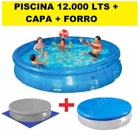 5f4418da2 Kit Piscina Inflavel 12.000 Litros + Capa + Forro Mor - Kit para ...