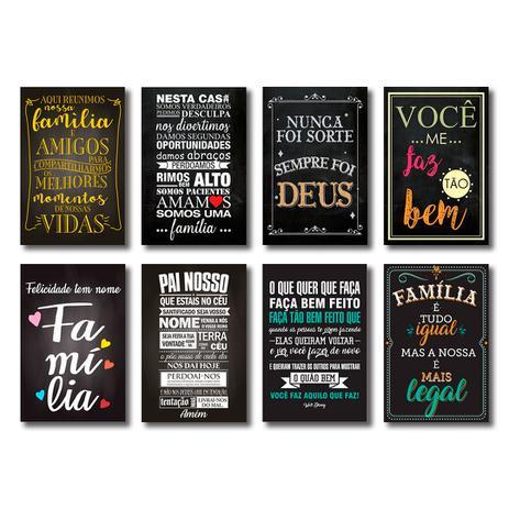 Kit Placas Decorativas Frases Motivacionais Mdf 8 Placas Art Print