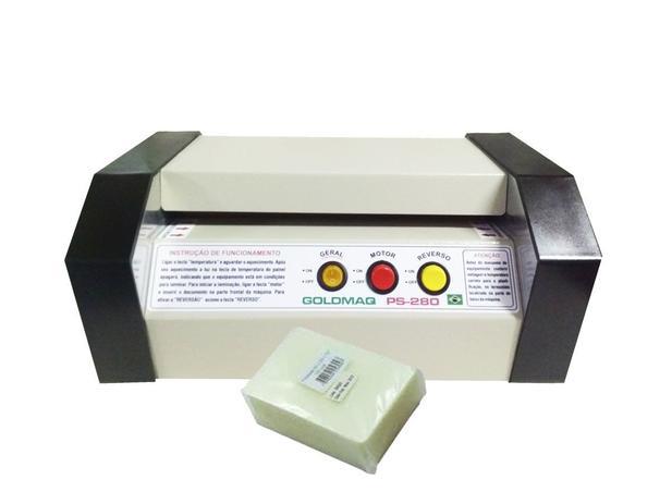 Imagem de Kit plastificadora PS-280 Profissional bivolts e reversão + insumos