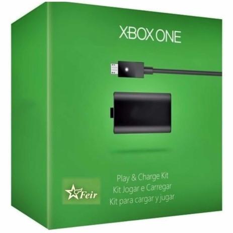 Imagem de Kit Play & Charge Bateria Carregador XBOX One Cabo Recarregável p/ Controle Feir FR3020 Alpha Xtreme