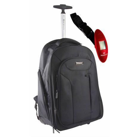 6d9f34b84 Kit Primicia - Mochila Poliéster c/ carrinho + Balança digital p/ pesar  malas e mochilas
