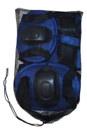 Imagem de Kit Proteção Infantil Para Rollers E Skates - Azul - G