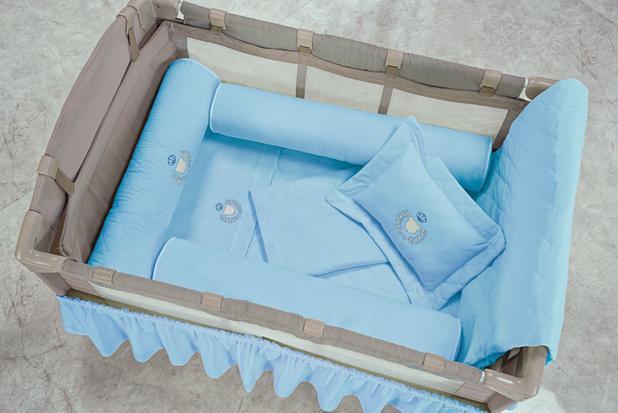 Imagem de Kit Protetor de Berço Desmontável 3 Peças Azul Menino