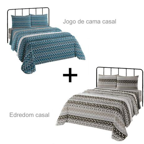 619eff4e69 Kit Quarto Casal Edredom + Jogo de Cama - Lepper - Jogo de Cama ...