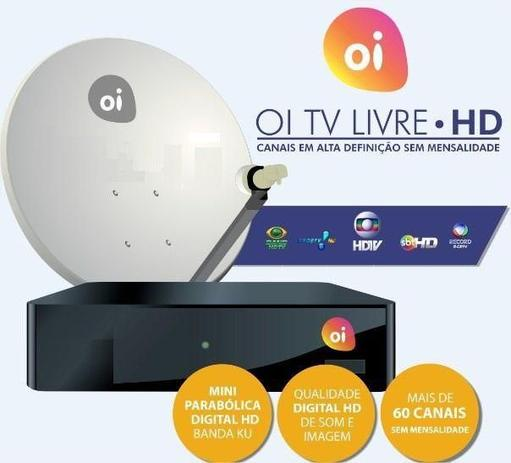 Imagem de Kit Receptor Oi Tv Livre Hd Digital Antena Lnb Duplo 17m Fio