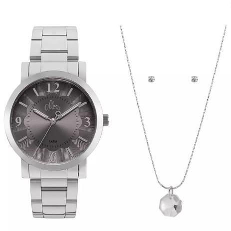 a95aa8c8862 Kit Relógio Allora Feminino AL2035FNC K1C Com Semijóia - Relógio ...