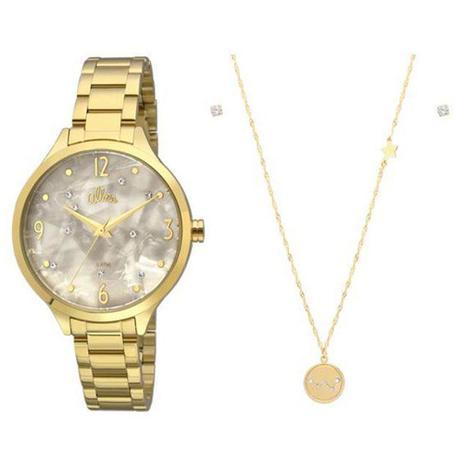 13eee678ee5 Kit Relógio Allora Feminino Al2036fig K4b - Relógio Feminino ...