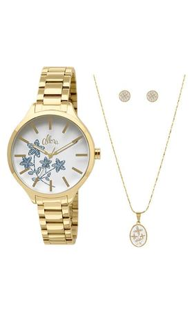849e95f0a0006 Kit Relógio Allora Feminino Bordados AL2036CGK4B - Relógio Feminino ...