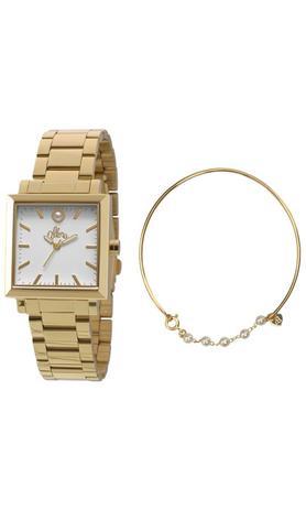 5adfe15916585 Kit Relogio Allora Feminino Ivete Dourado AL2035EZV4B - Relógio ...