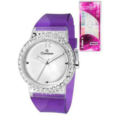 d22eaf5faea Kit Relógio Champion Analógico Troca Pulseiras Cp28275s - Relógios e ...