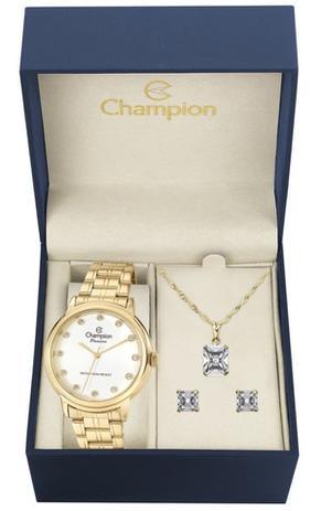 98672768d96 Kit Relógio Champion Elegance Feminino CN29874W com Colar e Brincos ...