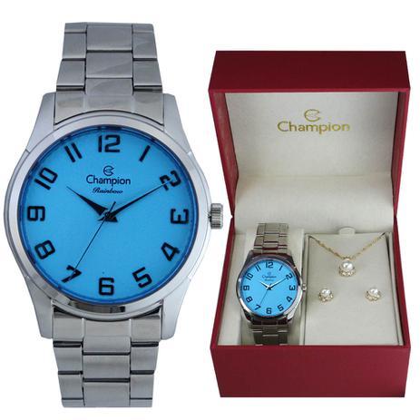 1dc7d25eed9 Kit Relógio Champion Rainbow Feminino CN29883N - Relógio Feminino ...