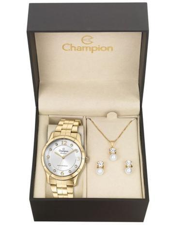 4ded0d0130b Kit Relógio Champion Rainbow Feminino CN29909W com Colar e Brincos ...