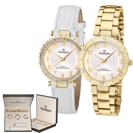 00ba42737ad Kit Relógio Champion Troca Pulseira Feminino CN28759H - Relógio ...