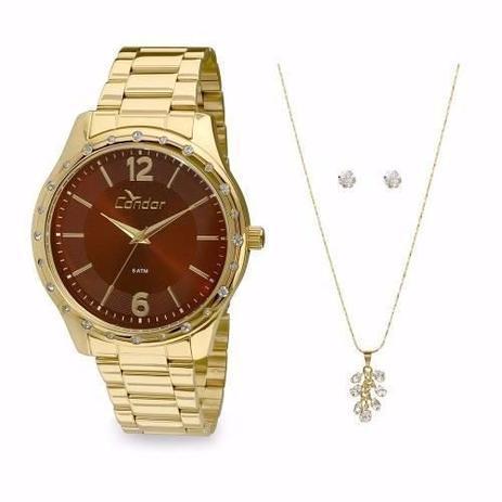 9ad19d2d02d85 Kit Relógio Condor Feminino Co2035kmi k4r - Relógio Feminino ...