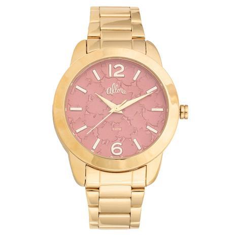 Kit Relógio Feminino Allora Analógico AL2036FGT K4R - Dourado ... 3ed6bb27df