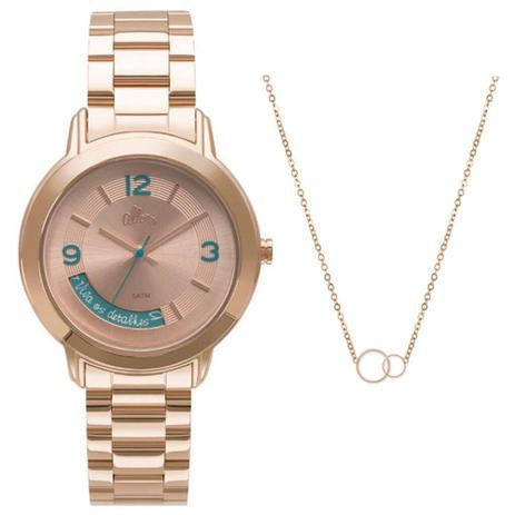 910fd1ddd90 Kit Relógio Feminino Allora Serena AL2315AJ K4T - Rosê - Relógio ...