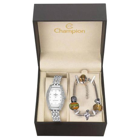 85e17dcc261 Kit Relógio Feminino Champion Analógico CN27152Y - Prata