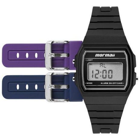 a24a5c0f514 Kit Relógio Feminino Digital Mormaii MOJH02AH 8P - Relógio Feminino ...