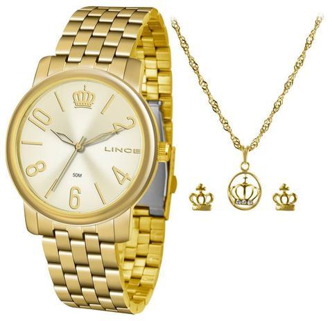 21187628179 Kit Relógio Feminino Lince LRG4555L KV02 - Relógio Feminino ...