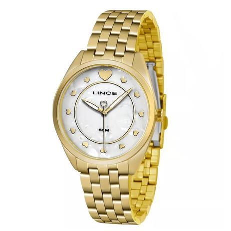 727949aee99 Kit Relógio Feminino Lince LRGH075L KV19 - Dourado Cinza - Relógio ...