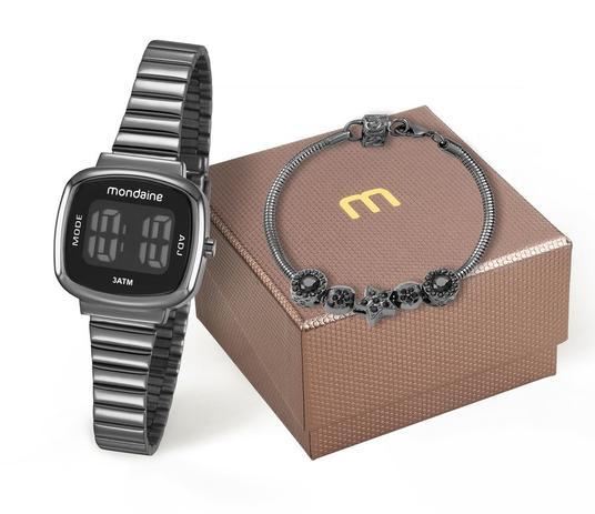 b742860b3 Kit Relógio Mondaine Feminino 53717LPMVPE3K1 com pulseira Digital ...