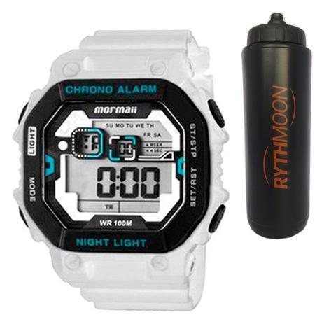 285926a7f90 Kit Relógio Mormaii Masculino MONF001A 8B + Squeeze Automático 1lt -  Rythmoon