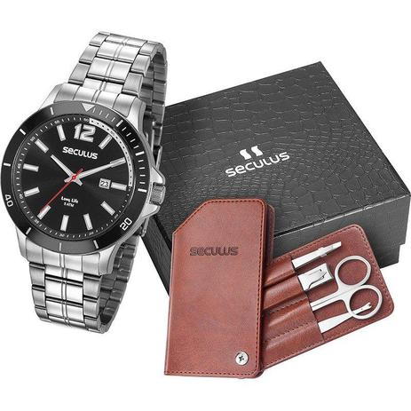 1c98981d767 Kit relógio seculus masculino 20609g0skna1k1 - Relógio Masculino ...