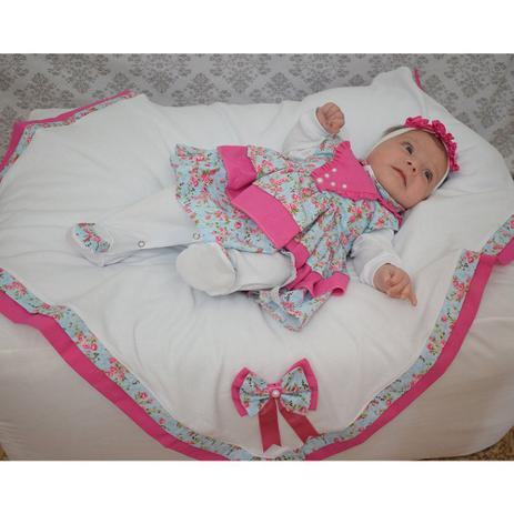485d17822adda Kit Saída de Maternidade Menina Luxo Pink 05 Peças - Sônia enxovais ...