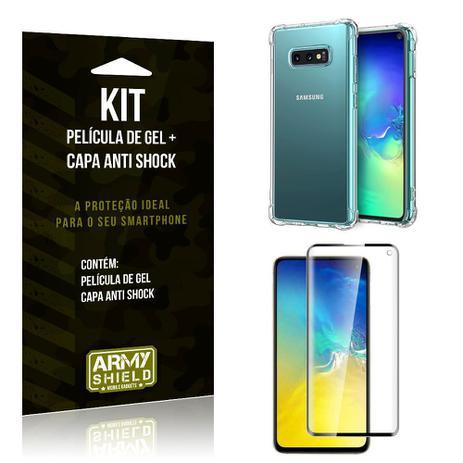 Imagem de Kit Samsung Galaxy S10e Capa Anti Shock + Película de Gel - Armyshield