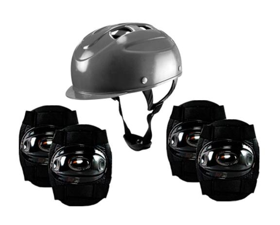 0bebdd1a2 Kit Segurança Proteção Infantil Para Skate Patins Patinete - CP02 PRETO -  Lotus