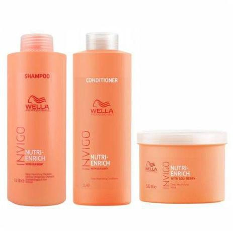 Imagem de Kit Shampoo Condicionador E Máscara Wella Nutri Enrich Invigo