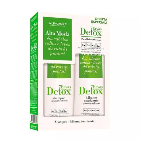 Imagem de Kit Shampoo e Condicionador Detox 7 Ervas Alta Moda - Alfaparf