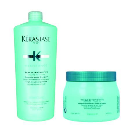 Kit Shampoo e Máscara Kérastase Resistance Extentioniste (1000ml e 500ml) -  Kerastase 2912ed7b06e6e