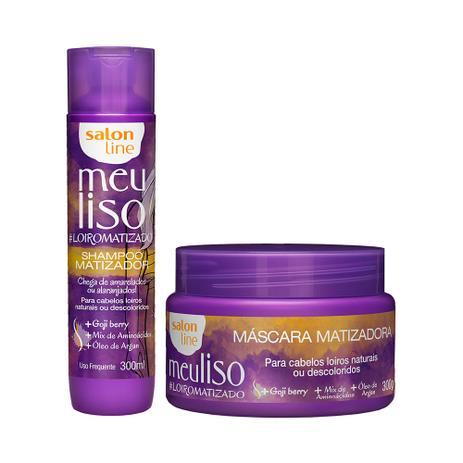 Imagem de Kit Shampoo e Máscara Meu Liso LoiroMatizado - Salon Line