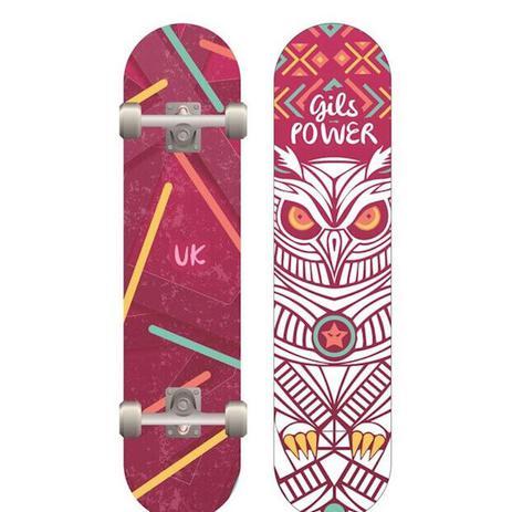Kit Skate Feminino Com Acessorios 5 Pcs Ks1400-f Unik - Skate ... c392f801039