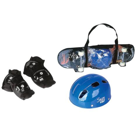Kit skate infantil reforçado grande 80x20cm com kit proteção capacete  joelheiracompleto - Gimp 7f2261dcac7